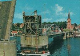 Cargo Ship And Bridge In Sonderborg   Denmark.  Used In Germany.  # 0207 - Koopvaardij