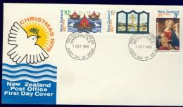 DV7-34 NEW ZEALAND 1975 FDC MI 664-666 MADONNA WITH CHILD, CHRISTMAS, WEIHNACHTEN, KERST, NOEL, NAVIDAD, NATAL. - Kerstmis