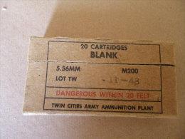 Boîte De 20 Cartridges BLANK Cal 5,56mm Lot 11-48 - Equipement