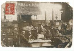 Carte Photo, BUREAU, BANQUE , Caissière Atelier Moreau Menu Rue Pierre Lescot , Voyagée Date Illisible état Voir Scan - Non Classés