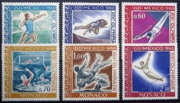 MONACO          N°  736/741         NEUF*