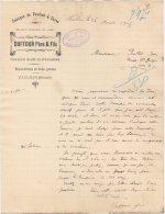 34 PAULHAN Canton De CLERMONT L´ HERAULT  FACTURE 1905 Fabrique De Foudres & Cuves DUFFOUR Père & Fils - Z4 - France
