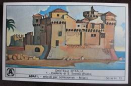 ITALIA. LOTTO DI 6 FIGURINE RAFFIGURANTI I CASTELLI D'ITALIA, SERIE N.13 - ABAFIL MILANO. 1980. VEDERE DETTAGLIO - Other Collections