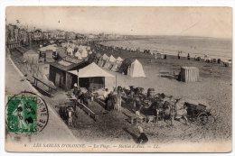 CP, 85, LES SABLES-D'OLONNE, La Plage, Station D'Anes, Voyagé, écrite En 1908 - Sables D'Olonne