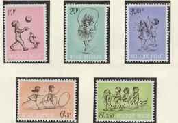 Chien-Dog-Chat-Cat-Belgique**Jeux D'enfants-5vals-1966-Belgium-children  Games-Kinderspelen- - Hunde