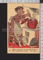 S6075 ILLUSTRAZIONE JACOVITTI FRATE IN CUCINA PIA OPERA VOCAZIONI FRANCESCANE Scritta FP - Autres Illustrateurs