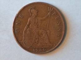 Grande-Bretagne 1 Penny 1930 - 1902-1971 : Monnaies Post-Victoriennes