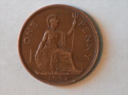 Grande-Bretagne 1 Penny 1937 - 1902-1971 : Monnaies Post-Victoriennes