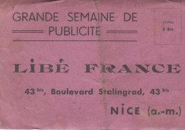 GRANDE SEMAINE DE LA PUBLICITE .- LIBIE FRANCE .- NICE - Maps