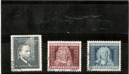 LIECHTENSTEIN   N ° 152/173/174  OBLITERE   1938/41 - Liechtenstein