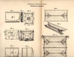 Original Patentschrift - F. Servus In Berlin , 1891 , Photographische Taschen - Camera , Kamera , Photographie !!! - Fotoapparate