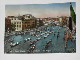 VENEZIA - 1952 - Canal Grande - Ponte Di Rialto - La Regata - Venezia