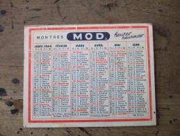 JOLI PETIT CALENDRIER PUBLICITAIRE  A 3 VOLETS / 1964 / MONTRES MOD / BIJOUTERIE  A. ROBIN / PARAY LE MONIAL (71) - Calendars