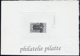 AFARS ET ISSAS N°347 EPREUVE D´ARTISTE F.F.L. DE GAULLE COULEUR EN NOIR - Afars Et Issas (1967-1977)