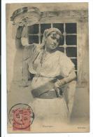 CPA -MAURESQUE -Femme Avec Tambourin -Afrique Du Nord -Circulé 1907 - Ethniques & Cultures