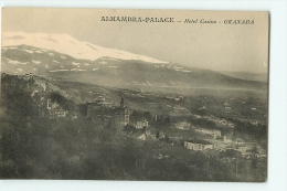 Granada : Alhambra Palace, Hôtel Casino. 2 Scans. - Granada
