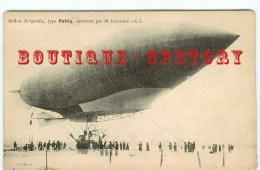 """CARTE AUTHENTIQUE Du DIRIGEABLE """" Patrie """" Construit Par M° Lebaudy - Ballon Dirigeables Militaire - Dos Scanné - Dirigibili"""