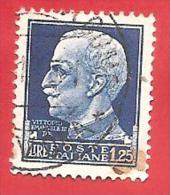 ITALIA REGNO - USATO - 1929 - IMPERIALE - Effigie Di Vittorio Emanuele III Volta A Sinistra - £ 1,25 - S. 253 - Usati