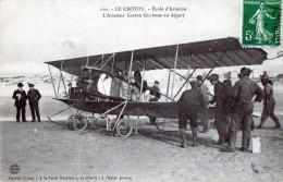 CPA 80 LE CROTOY L´AVIATEUR GASTON CAUDRON AU DEPART ECOLE AVIATION - Le Crotoy