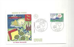 Enveloppe Premier Jour Régions De France La Haute Normandie Du 21/01/1978 Timbre à 1,40 - FDC