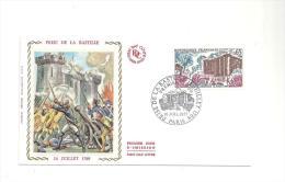 Enveloppe Premier Jour Prise De La Bastille Le 14 Juillet 1789 Du 10/07/1971 Timbre à 0,65 - FDC