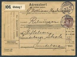 1915 Sweden Goteborg Adresskort - Lundsberg