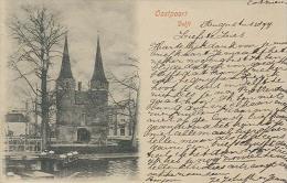 Delft, Oostpoort   ( Kaart Uit 1899 ! )    2 X Scan - Delft