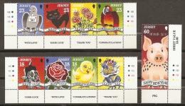AÑO NUEVO - JERSEY 1995 - Yvert #673/81 - MNH ** - Chinees Nieuwjaar