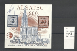 Vignette  CNEP  Alsatec 1980   ( Signée Par La Graveur )  Cote 15 € - CNEP