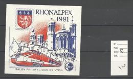 Vignette  CNEP  Rhonalpex 1981 ( Signe Par Le Graveur )   Cote 12 € - CNEP