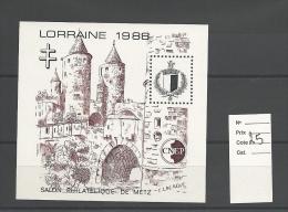 Vignette  CNEP   Lorraine 1988 Cote 25 € - CNEP