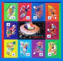 UNE FEUILLE DE 10 TIMBRES NEUFS A 3 FRANCS FRANCE STADE DE FRANCE 1998 COUPE DU MONDE NON OBLITERES - Full Sheets