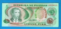 FILIPINAS - PHILIPPINES -  5 Piso ND SC  P-160 - Filipinas