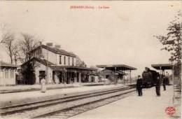 Jessains – La Gare (train) (tampon Commission Militaire Jessains Au Verso) - France
