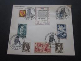 28-29 Nov 1964 Carte Postale Cachet à Date Commémoratif ;20e Anniversaire De La Libération De Metz 1944/1964 Aff Composé - Poststempel (Briefe)