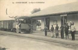 CONGO BELGE  La Gare De Kinshassa  Kinshasa  2 Scans - Kinshasa - Leopoldville