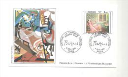 Enveloppe Premier Jour Balthus, La Chambre Turque Du 06/11/1982 Timbre à 4,00 - FDC