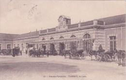 65 TARBES, La Gare,attelages, Animée - Tarbes