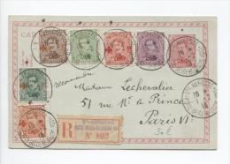 CP 54 + TP 140-153-137-151-152-150 En Recommandée Ste.Adresse Du 1/2/1918 V.Paris PP452 - Zone Non Occupée