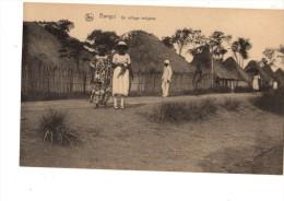 C P A----AFRIQUE--BANGUI----------un Village  Indigène----2 Scans - Centrafricaine (République)