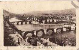 TERRASSON LE BASSIN DE LA VEZERE PANORAMA CPA NO 601 - Frankreich