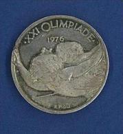 MEDAGLIA ARGENTO  - XXI OLIMPIADE ANNO 1976 - DIMENSIONI E PESO DELLA 500 ARGENTO ITALIA CARAVELLE - Gettoni E Medaglie