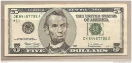 USA - Banconota Circolata Da 5 Dollari - 2003 - - Bilglietti Della Riserva Federale (1928-...)