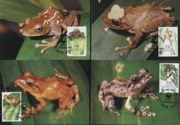 WWF  MC  1988  FIJI  Tree Frog - Frösche