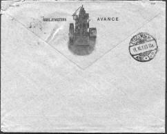 1918 Sweden Stockholm Svensons Avance Motorfabrik Machinery Advertising Cover