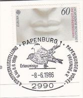 FINCH BIRDS EVENT Pmk COVER (card) Papenburg GERMANY Stamps Bird Finches - Songbirds & Tree Dwellers