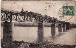 GIEN  -  Le Viaduc De La Ligne D´Angers (TRAIN ) - Gien