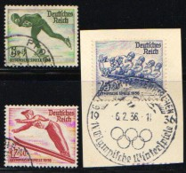 GERMANY 1935 MICHEL 600-602 USED VALUE 12 EUR - Gebruikt