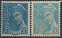 1942 Y&T 538 VARIETé PÂLE AVEC NORMAL N** - Curiosities: 1941-44 Mint/hinged