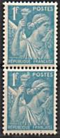 1944 Y&T 650 VARIETé C DE FRANCAISE CASSé TENANT A NORMAL N** - Curiosities: 1941-44 Mint/hinged